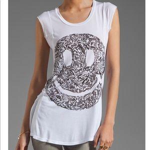 Lauren Moshi S/S Tee, Gun Happy Face Print